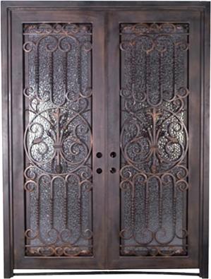 Double iron door