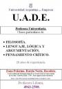 Apoyo. Clases. Profesora particular. Barrio Norte. Filosofía, lógica, epistemología. 4963-2508.