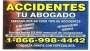 Abogado de Accidentes/ Tu Abogado Legal 866-998-4442