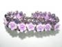 venta al por mayor pulseras de cristal con flores fimo