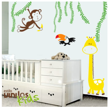 Decoracion de paredes para bebes affordable imagen - Decoracion paredes vinilos adhesivos ...