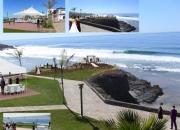 Salon de eventos y excelente jardin frente al mar