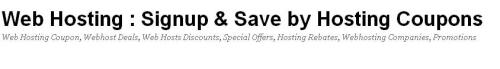 Joomla hosting coupons