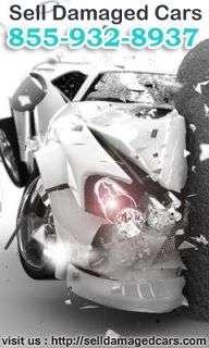 Aquí en selldamagedcars.com,estamos listos para tomar su vehículos dañados y chatarra
