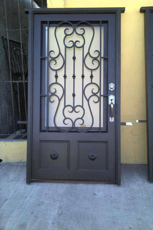 Mano forjado de hierro forjado puertas dobles para de entrada - Puertas de entrada de segunda mano ...