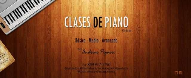 Clases de piano online principiante, avanzado, etc...