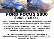 2000 Ford Focus (Super Limpio) $ 2800 (O.B.O.)