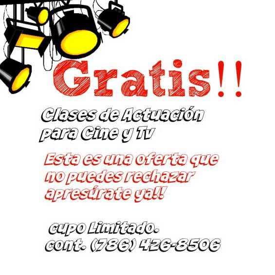 Clases gratis!! de actuacion