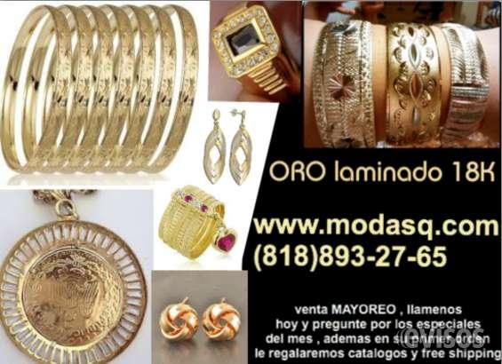 d38d24f8636d Venta mayoreo joyeria oro laminado 18k brasileño en Los Angeles ...
