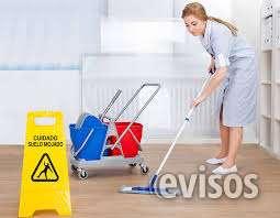 Personal de servicios de limpieza en residencias.