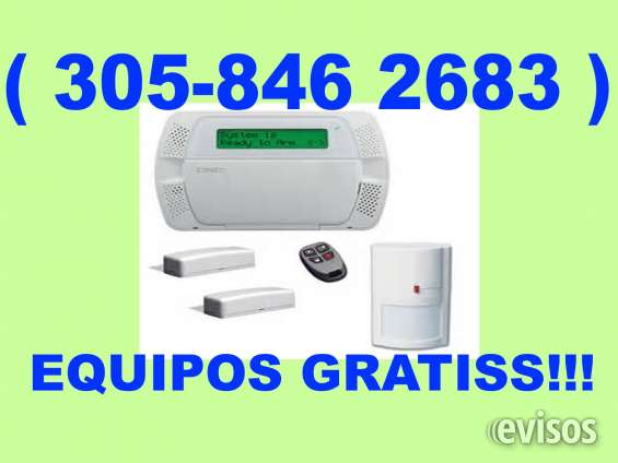 ( 305-846 2683 ) alarma para negocios casas en miami equipos gratis e instalacion gratis