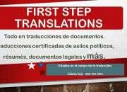 Garantiza tus traducciones certificadas con first step translations corp.