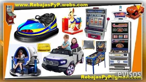 Fabrica maquinas de juegos, tragamonedas, casino, arcade, pinball, mario, bingo, carros el