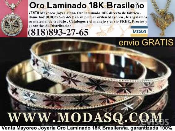 0e048a5c2739 Venta mayoreo joyeria de oro laminado 18k brasileña en Los Angeles ...