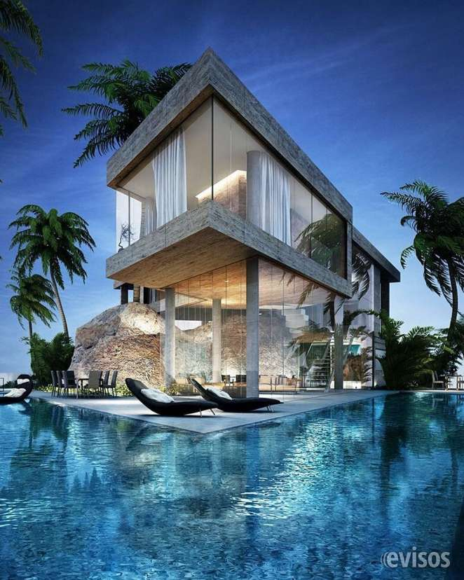 Impactante casa que se conecta con una hermosa piscina