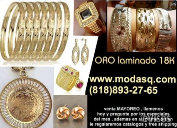 venta mayoreo joyera fina oro laminado